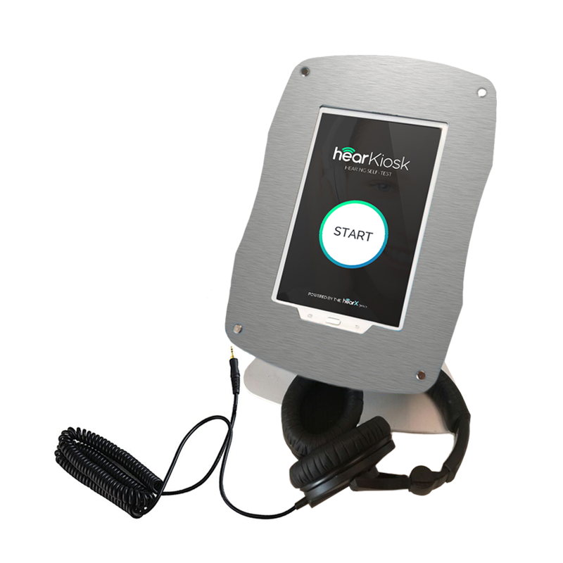 hearKiosk: the all in one, easy-to-use, self-test kiosk to screen for hearing loss and a must have for any healthcare provider