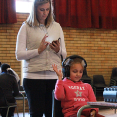 Nelson Mandela Day screening children for hearing problems